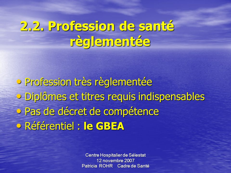 2.1 Liste et classification Technicien de laboratoire de classe normale Technicien de laboratoire de classe supérieur (quotat) (cf. documents joints)