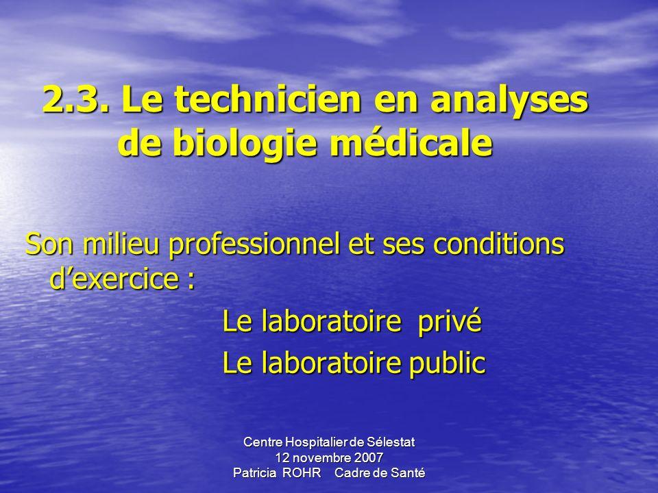 Centre Hospitalier de Sélestat 12 novembre 2007 Patricia ROHR Cadre de Santé Circulaire n°2006-318 du 13 juillet 2006 Circulaire n°2006-318 du 13 juil