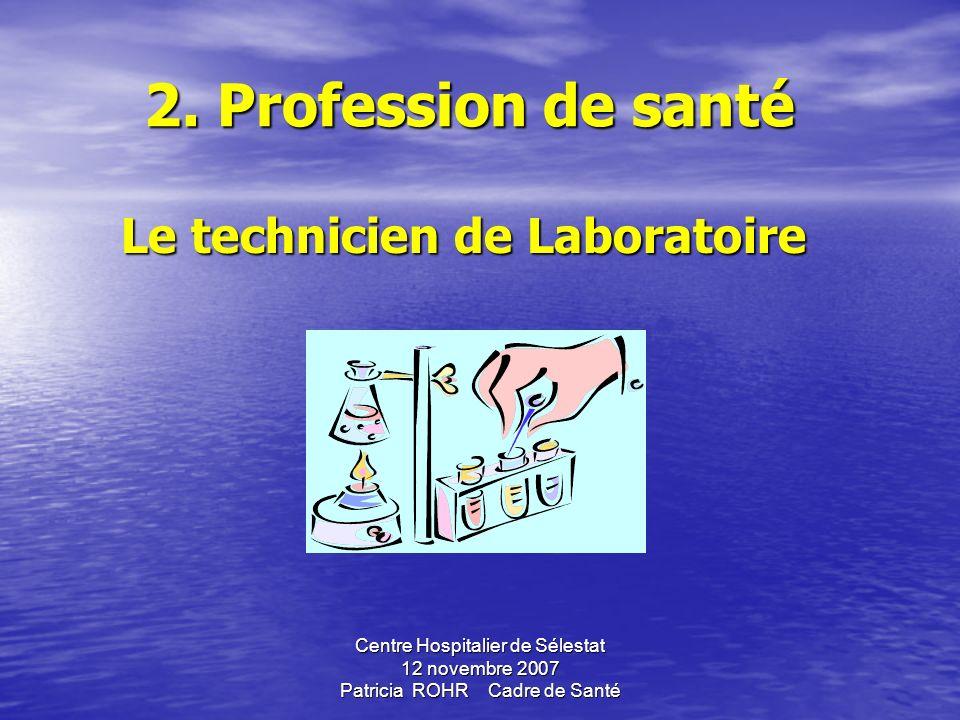 Centre Hospitalier de Sélestat 12 novembre 2007 Patricia ROHR Cadre de Santé LES LABORATOIRES LES LABORATOIRES En attente du S.R.O.S biologie (1er sem