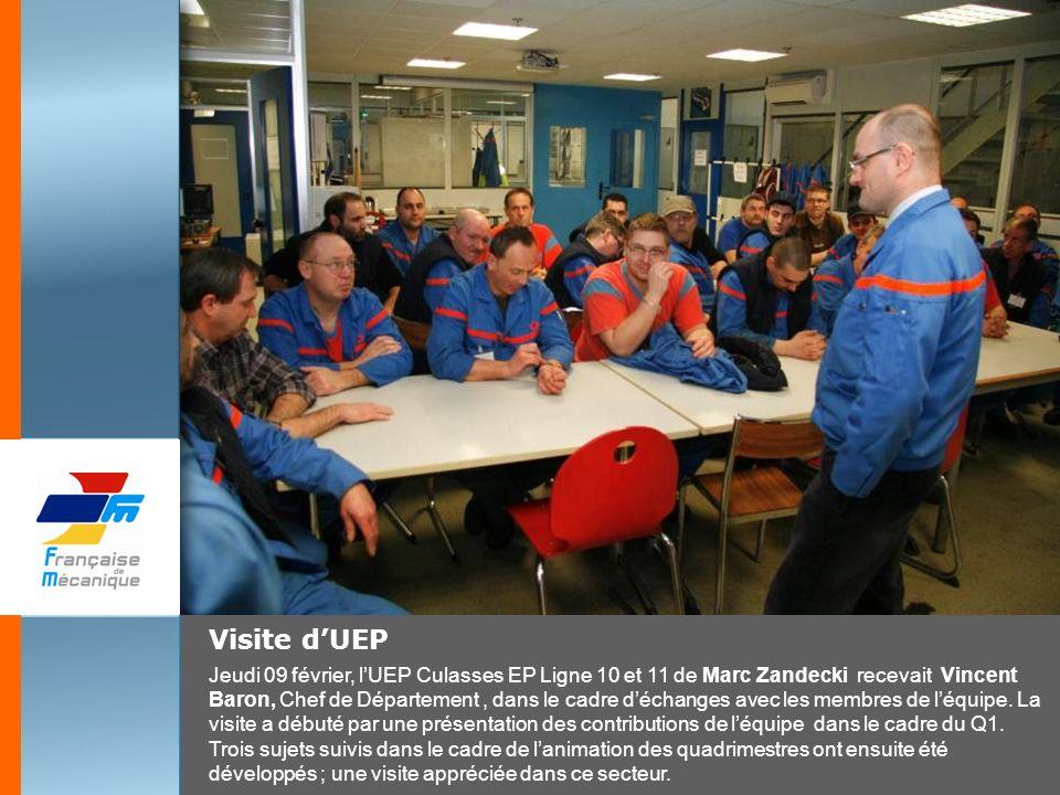 Visite dUEP Jeudi 09 février, lUEP Culasses EP Ligne 10 et 11 de Marc Zandecki recevait Vincent Baron, Chef de Département, dans le cadre déchanges av