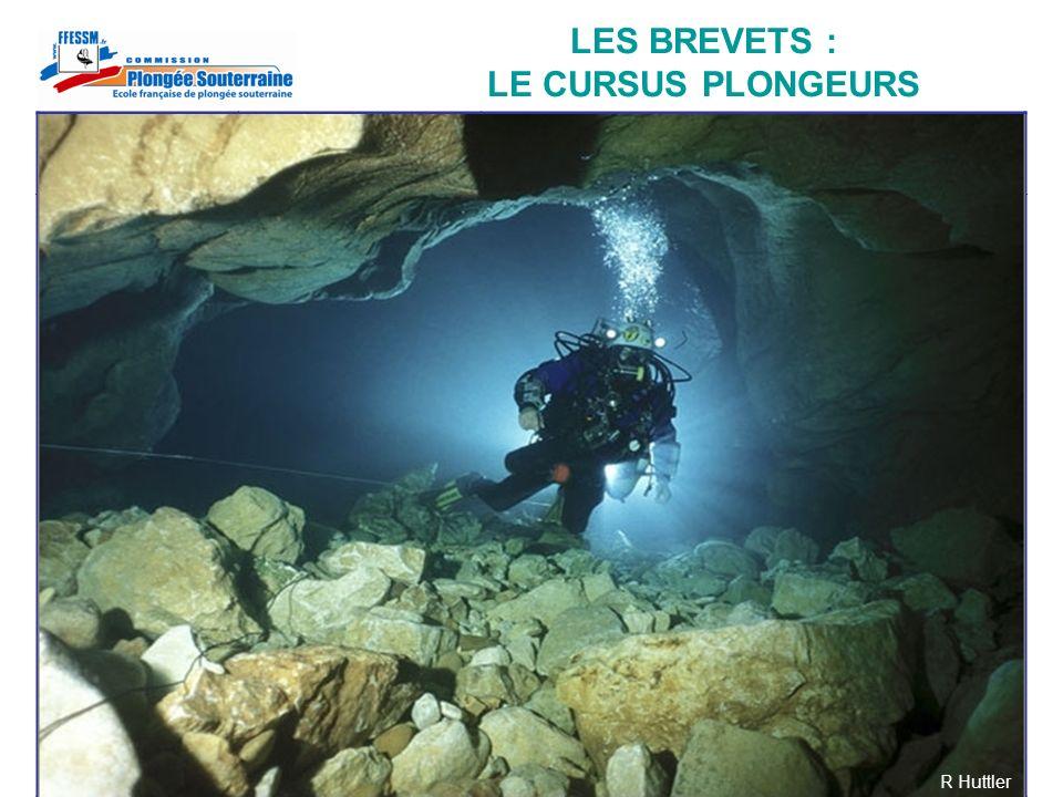 LES BREVETS : LE CURSUS PLONGEURS Brevet TECHNIQUE Brevet SOUTERRAINE Formation + Pratique + Compétences Stage initiationNiveau 2Baptême Formation + 5