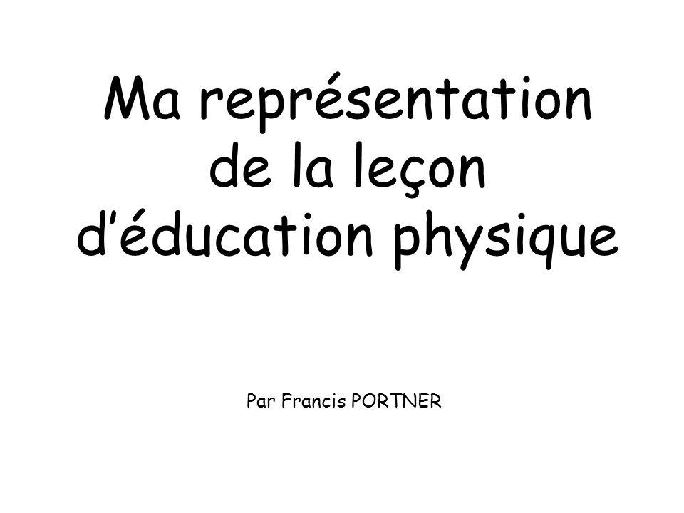 Ma représentation de la leçon déducation physique Par Francis PORTNER