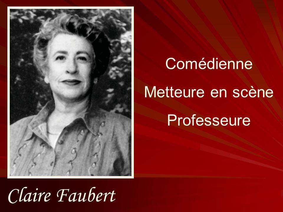 Claire Faubert Comédienne Metteure en scène Professeure