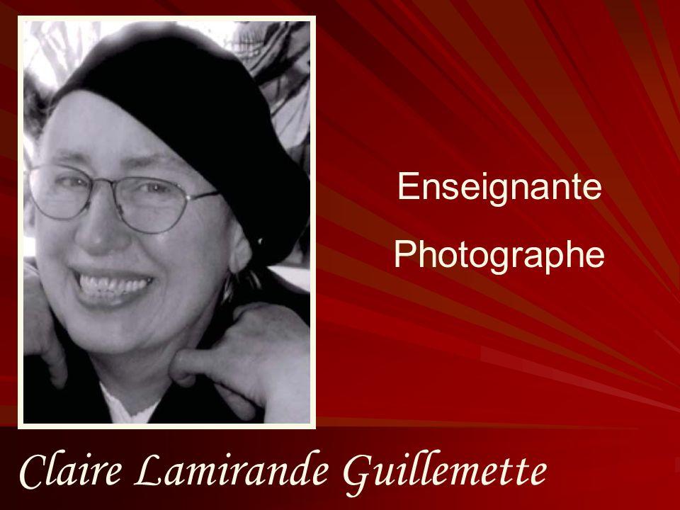 Claire Lamirande Guillemette Enseignante Photographe