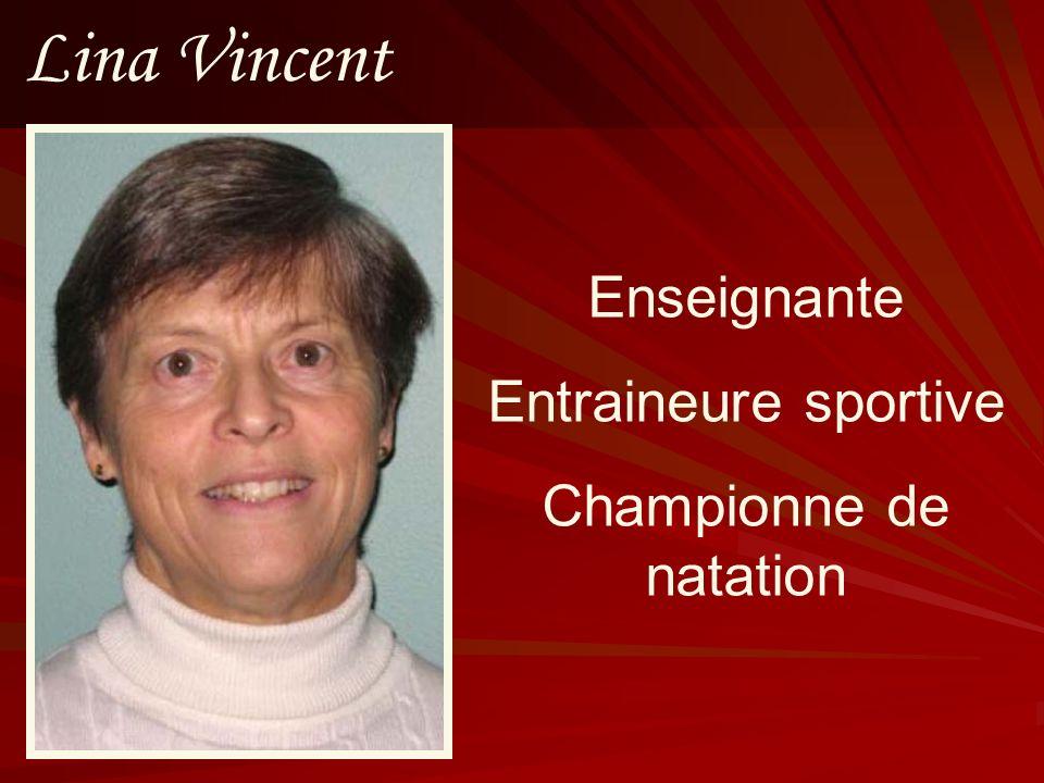Lina Vincent Enseignante Entraineure sportive Championne de natation