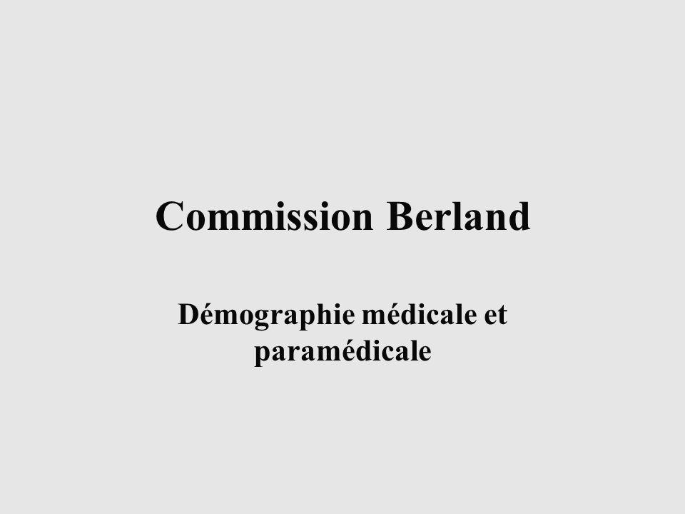 Commission Berland Démographie médicale et paramédicale