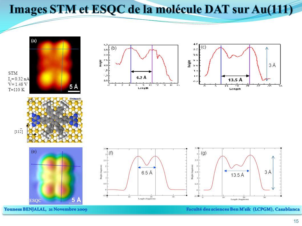 15 [110] [112] (d) (a) STM I c = 0.32 nA V= 1.48 V T=110 K 5 Å (e) (b) (c) 6.5 Å 13.5 Å (g)(f) _ _ ESQC 3 Å