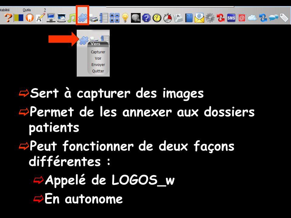 Fonctionnement Clic sur licône Outil de capture Pour capturer une image Clic sur le bouton Capturer Apparition de l Outil de capture
