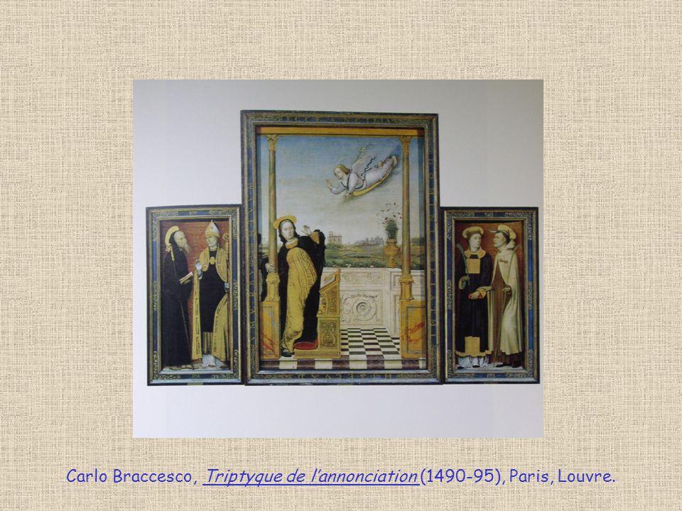 Carlo Braccesco, Triptyque de lannonciation (1490-95), Paris, Louvre.