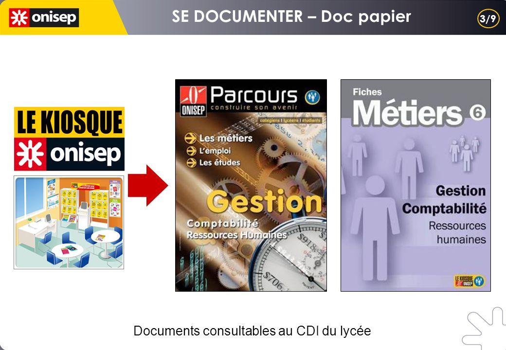 3/9 Documents consultables au CDI du lycée