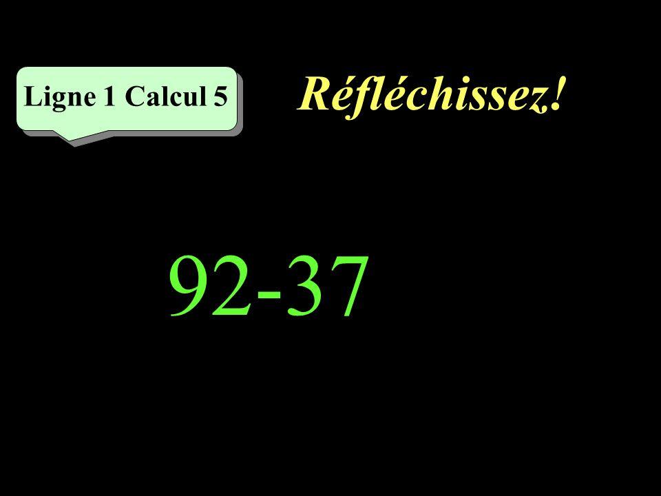 Écrivez ! Ligne 1 Calcul 4 67-23=