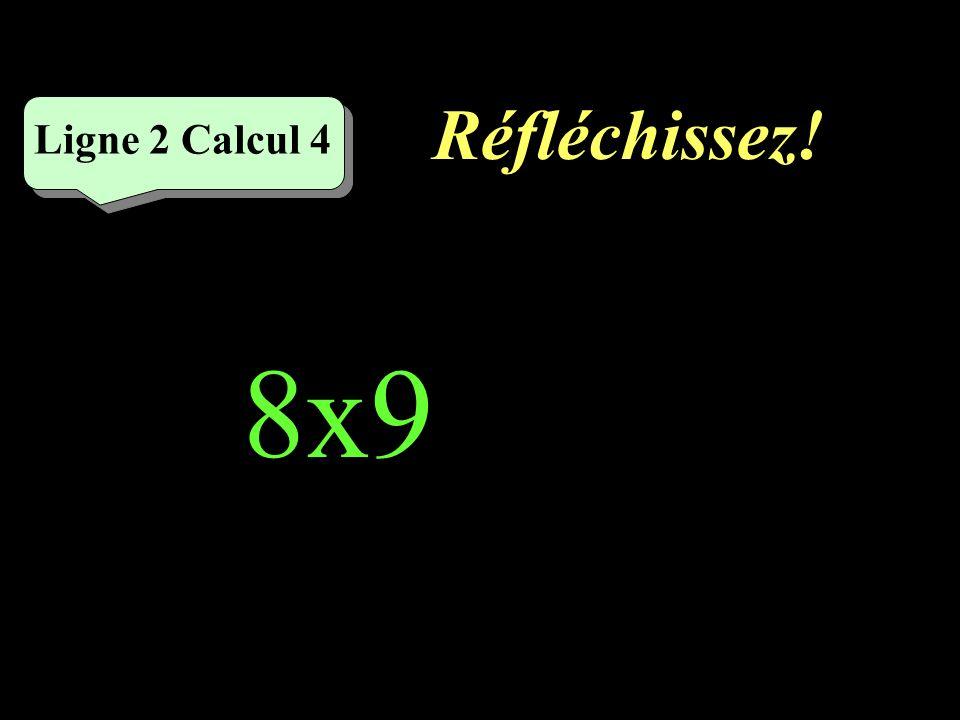 Écrivez ! Ligne 2 Calcul 3 6x7=