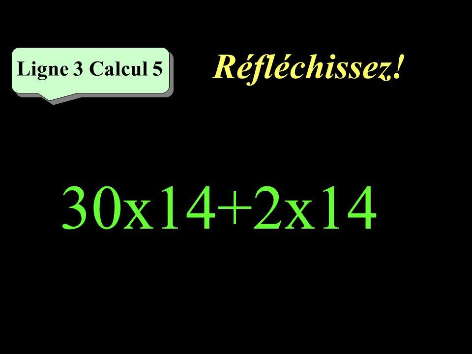 Écrivez ! Ligne 3 Calcul 4 10x13+2x13=