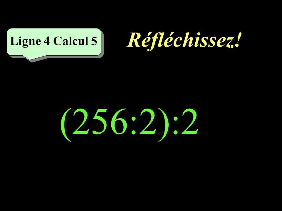 Écrivez ! Ligne 4 Calcul 4 2400:30=