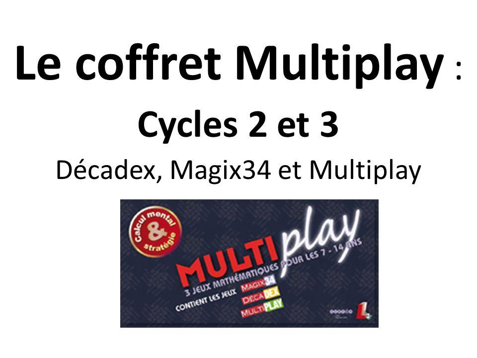 Le coffret Multiplay : Cycles 2 et 3 Décadex, Magix34 et Multiplay