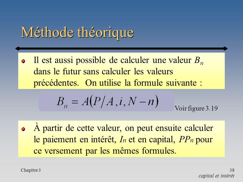 Chapitre 338 Méthode théorique Il est aussi possible de calculer une valeur B n dans le futur sans calculer les valeurs précédentes. On utilise la for