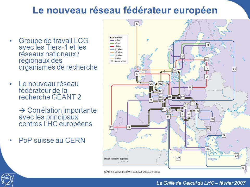 12 La Grille de Calcul du LHC – février 2007 La collaboration WLCG La collaboration 4 expérience LHC ± 140 centres de calcul 12 grands centres (Tiers-0, Tiers-1) 38 réseaux de plus petits Centres Tiers-2 ± 35 pays Protocole dentente Approuvé en octobre 2005, maintenant signé Ressources Contributions par les pays participants aux expériences Engagement fait en octobre pour lannée suivante Visibilité à 5 ans Utilise EGEE et OSG (et dautres projets régionaux)