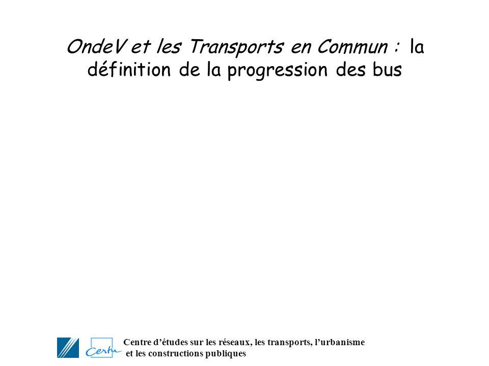 Centre détudes sur les réseaux, les transports, lurbanisme et les constructions publiques OndeV et les Transports en Commun : la définition de la prog