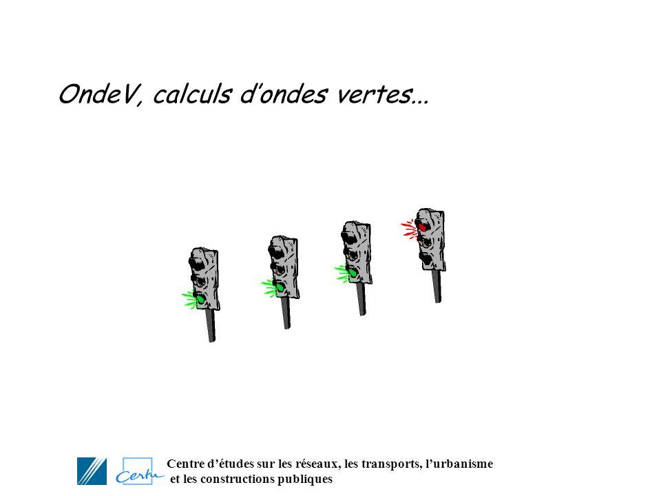 Centre détudes sur les réseaux, les transports, lurbanisme et les constructions publiques OndeV, calculs dondes vertes...