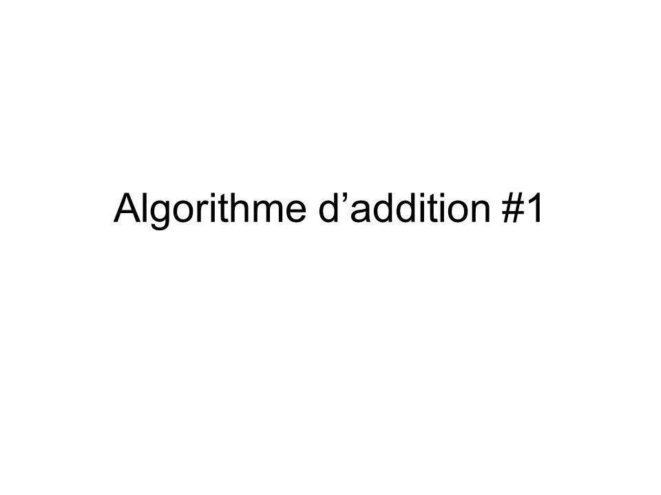 Algorithme daddition #1