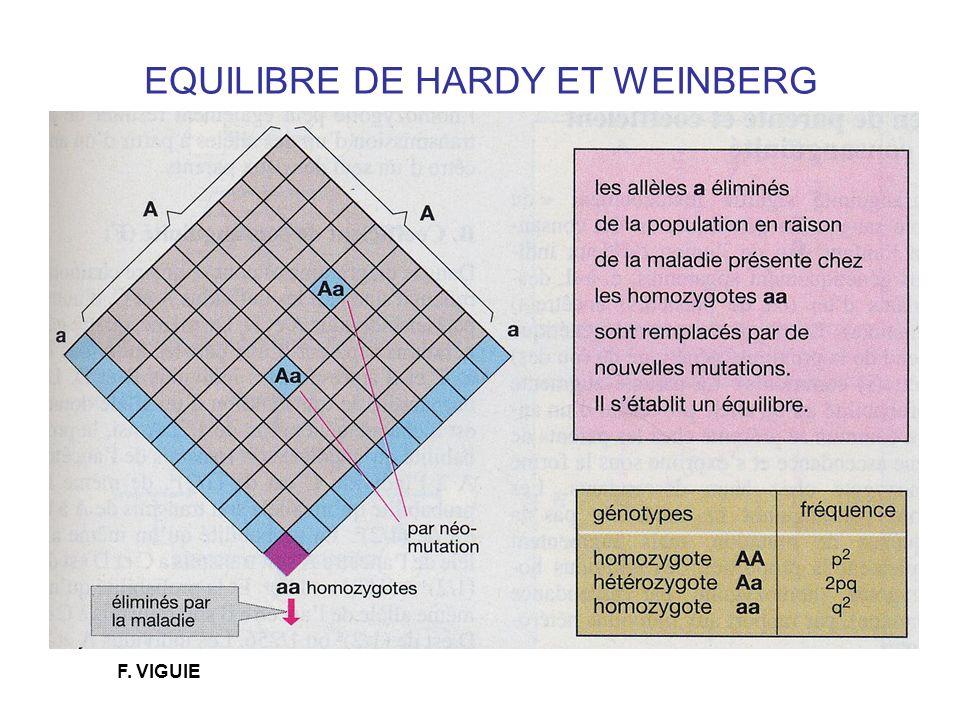 EQUILIBRE DE HARDY ET WEINBERG F. VIGUIE