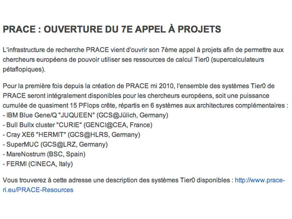 GENCI Nombreux projets – IPSL, an dernier : 13 projets, 14 millions d heures en tout 6 millions d heures curie NF 5 millions d heures ada Dossier en ligne, entre le 16/9 et le 18/10 https://www.edari.fr/ pour une allocation à partir de janvier 2014 https://www.edari.fr/