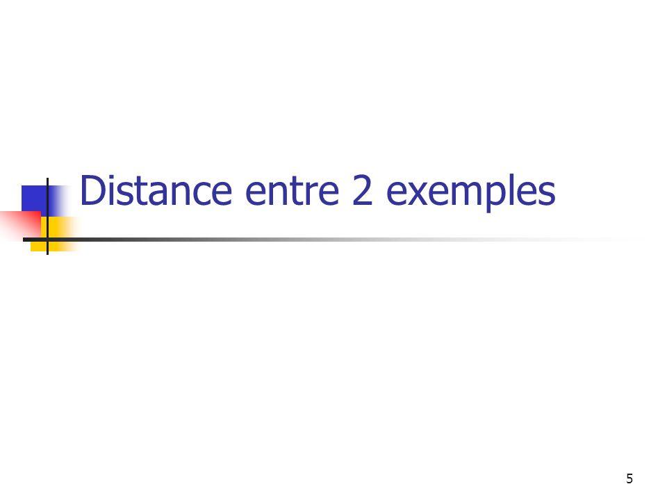 5 Distance entre 2 exemples