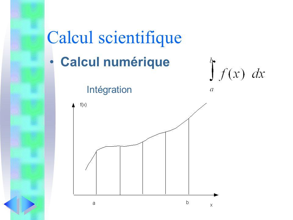Calcul scientifique Calcul numérique Intégration
