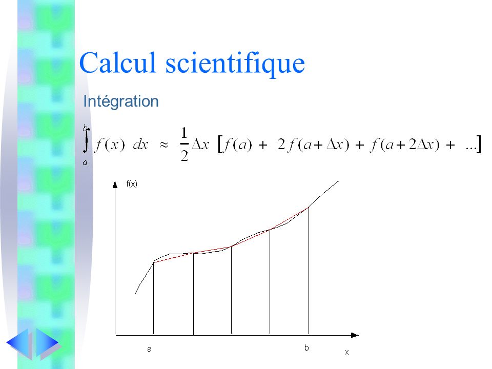 Calcul scientifique Intégration