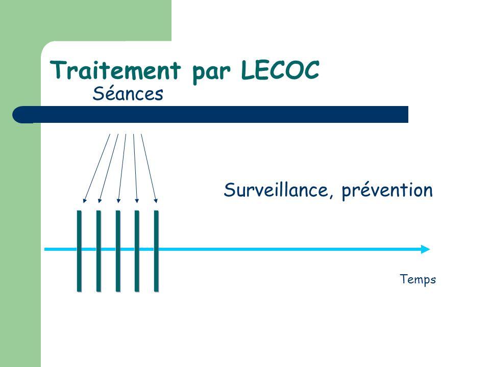 Traitement par LECOC Séances Temps Surveillance, prévention