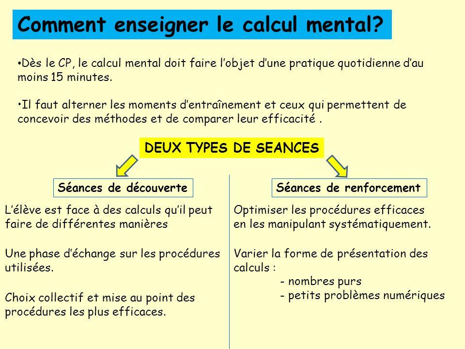 Comment enseigner le calcul mental.