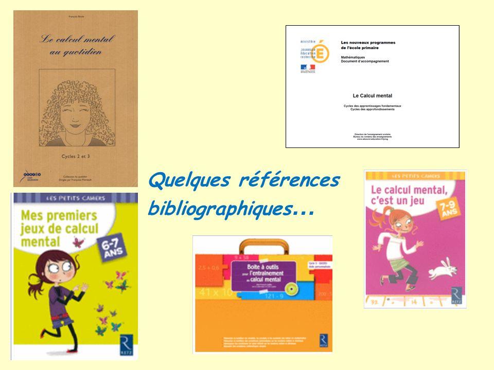 Quelques références bibliographiques …