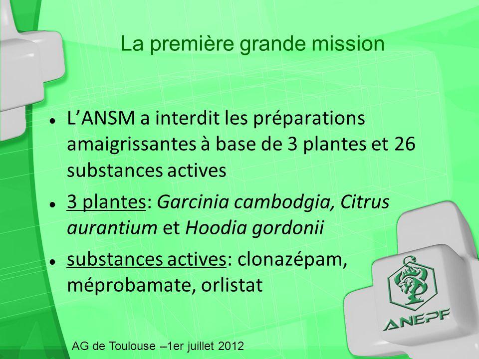 La première grande mission LANSM a interdit les préparations amaigrissantes à base de 3 plantes et 26 substances actives 3 plantes: Garcinia cambodgia