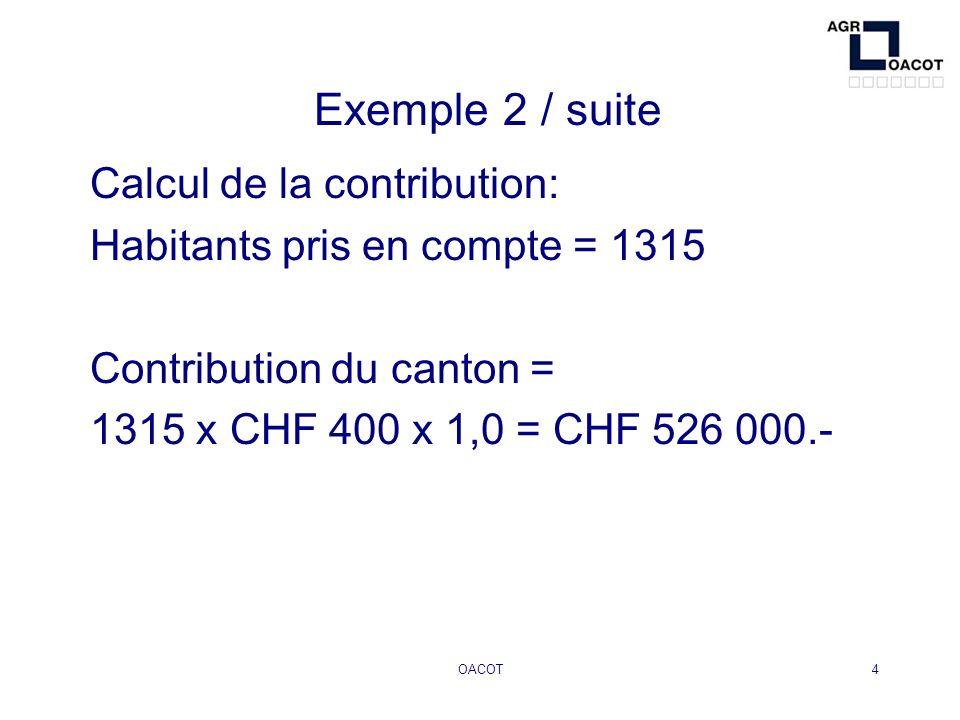 OACOT5 Exemple 3: fusion de trois communes Commune A: 315 habitants Commune B: 545 habitants Commune C: 1660 habitants Aide financière : a)Mise en œuvre du projet (art.