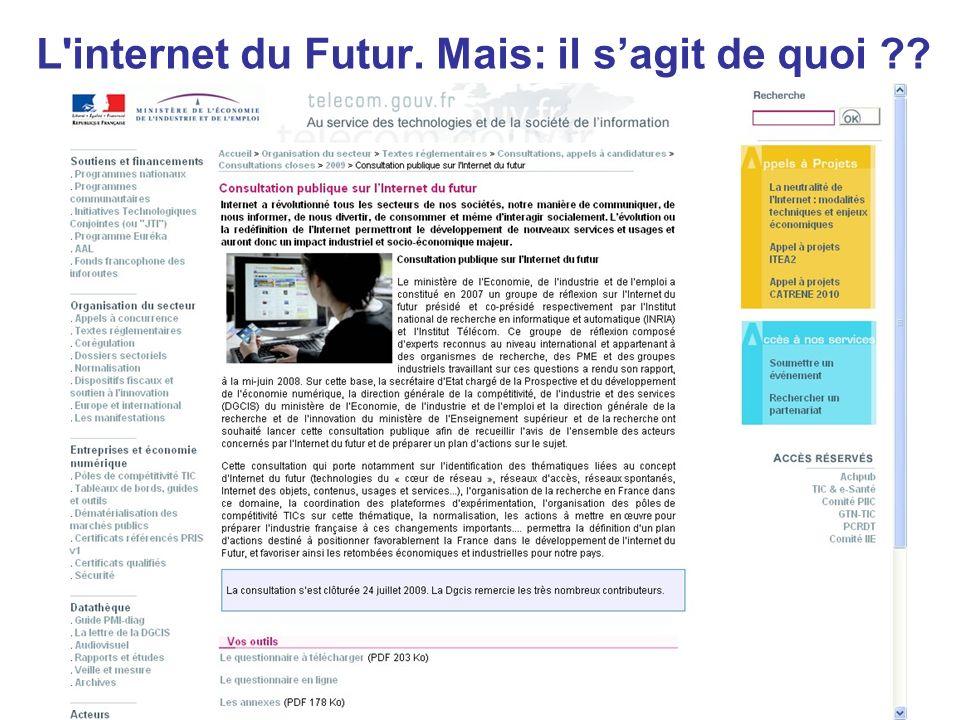 Mars 25-26 Tunis stefano.gazziano@enea.it L'internet du Futur. Mais: il sagit de quoi ??