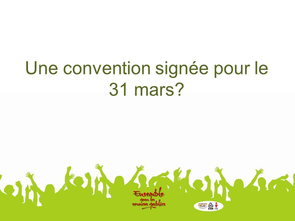 Une convention signée pour le 31 mars