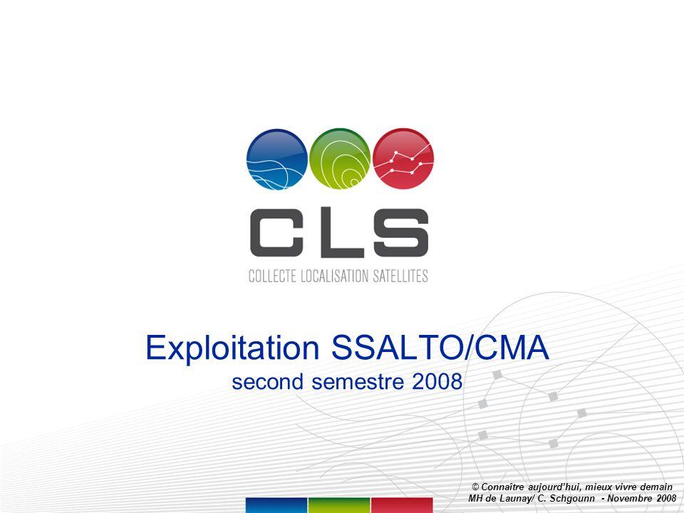 Page 1 Exploitation SSALTO/CMA second semestre 2008 © Connaître aujourdhui, mieux vivre demain MH de Launay/ C.