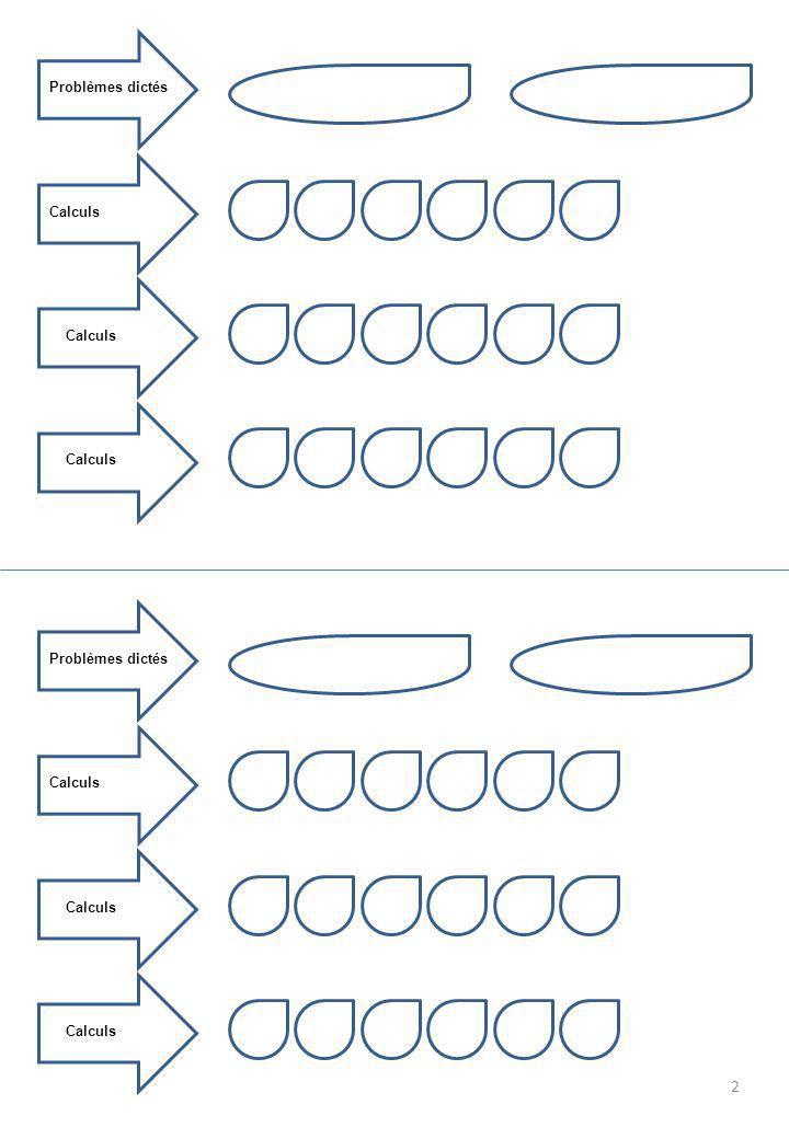 SCORE /8 Tables de multiplication ™ a.2 fois 9 b.