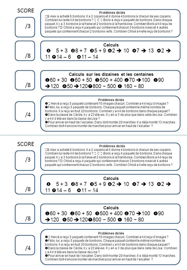 Tables de multiplication Problèmes dictés Réponds par une phrase 6 Tables de multiplication Problèmes dictés