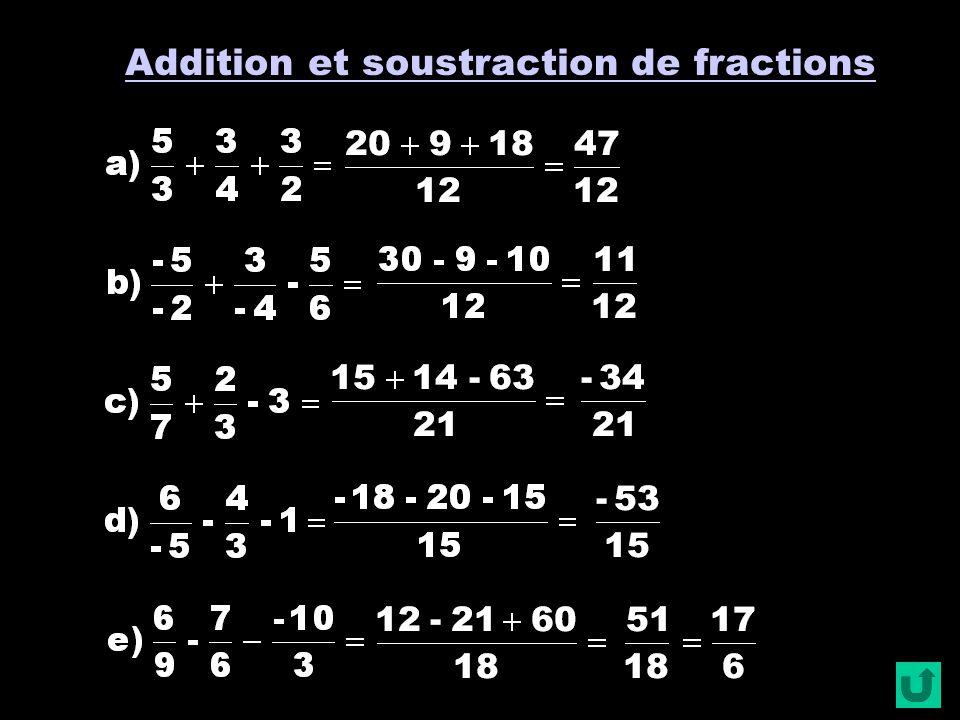 Opérations sur les fractions (2) Pour éviter les coups doeil « involontaires », deux élèves voisins répondent aux questions de couleurs différentes .