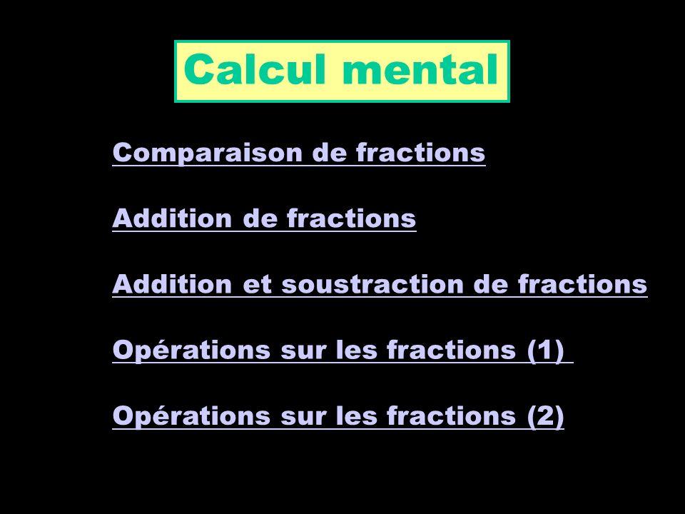 Opérations sur les fractions