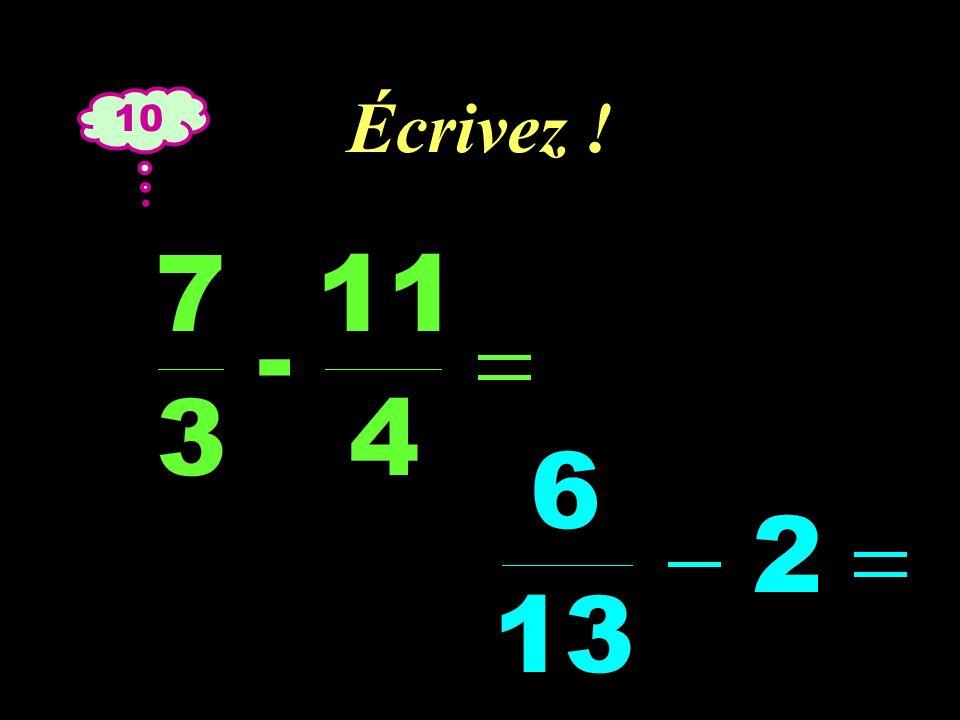 –1–1 Réfléchissez ! 10