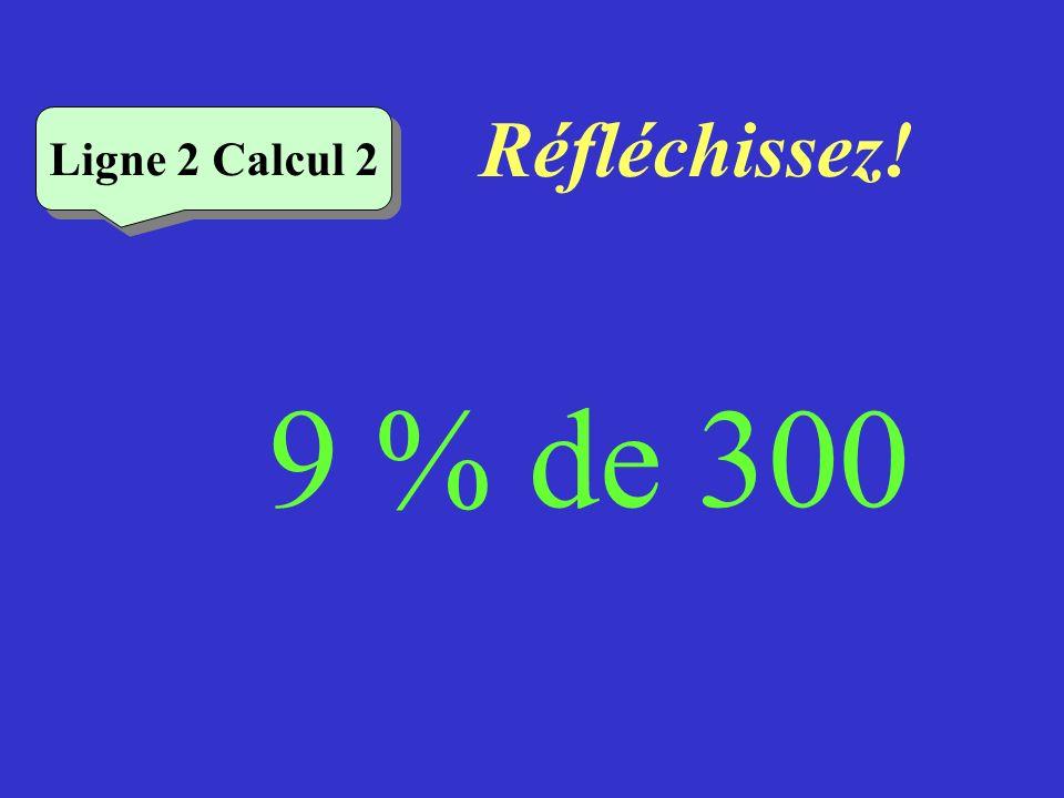 Écrivez ! Ligne 2 Calcul 1 7% de 200