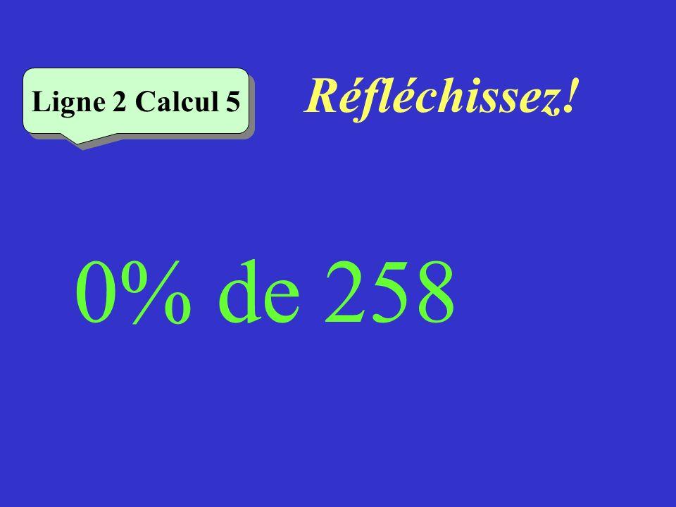 Écrivez ! Ligne 2 Calcul 4 6% de 50