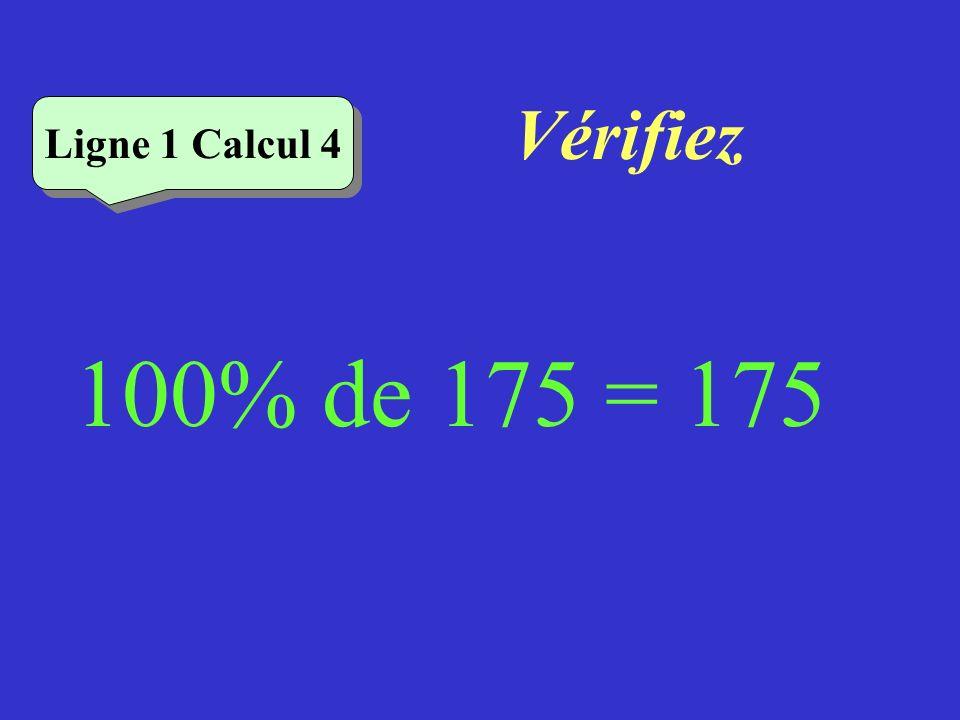 Vérifiez Ligne 1 Calcul 3 25% de 48 = 12