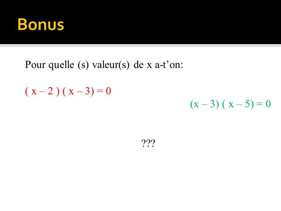 Que vaut m si : 2 x m +9 =31 Que vaut z si : 3 x z +15 =30