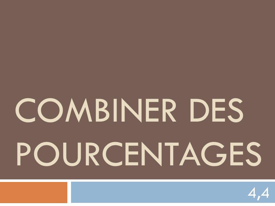 COMBINER DES POURCENTAGES 4,4