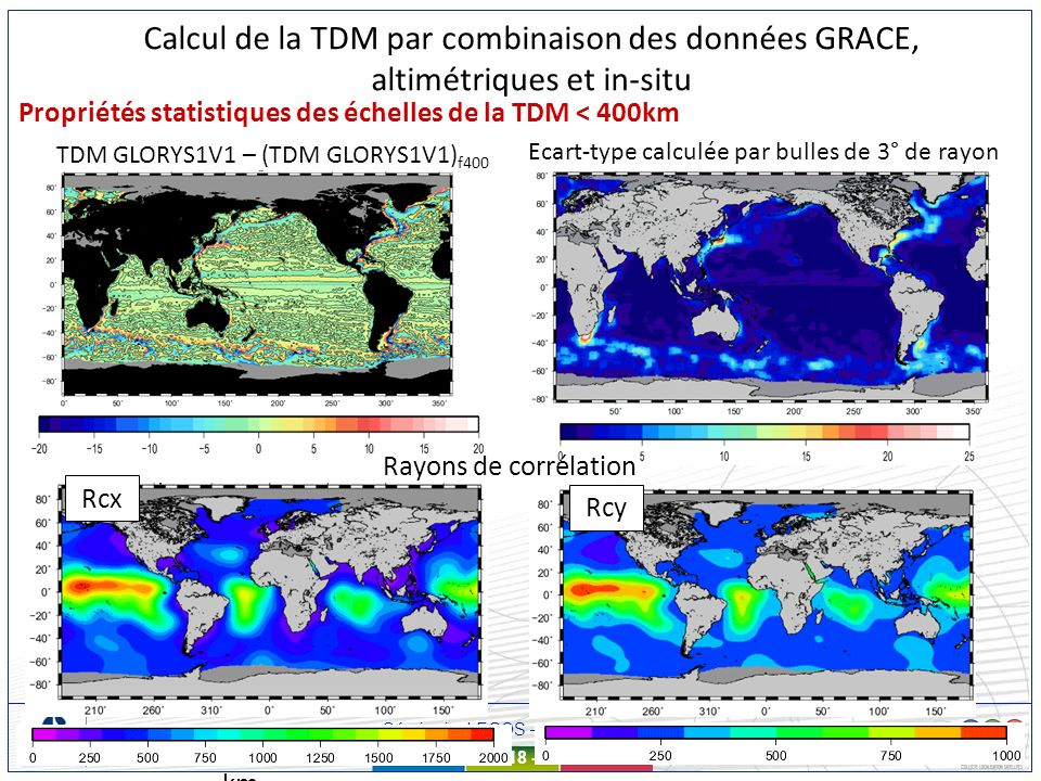 Séminaire LEGOS – 11 mars 2010 - 18 - Propriétés statistiques des échelles de la TDM < 400km TDM GLORYS1V1 – (TDM GLORYS1V1) f400 Ecart-type calculée