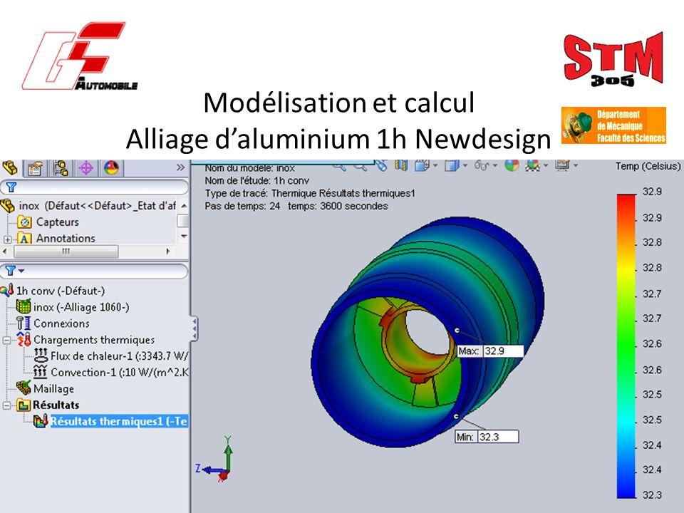 Modélisation et calcul Alliage daluminium 1h Newdesign