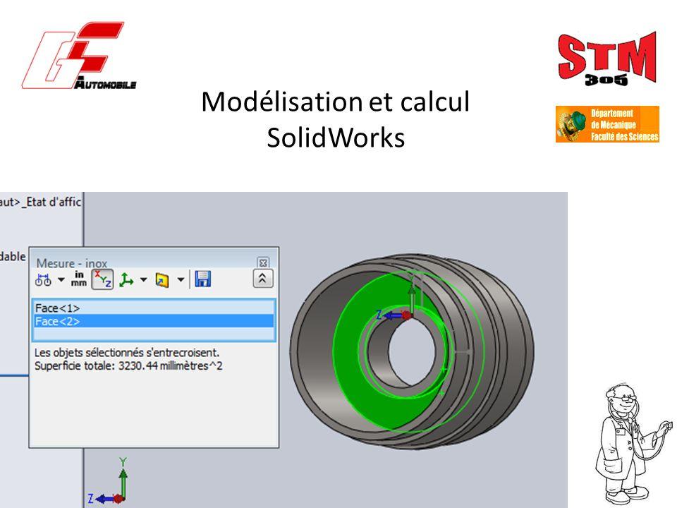 Modélisation et calcul SolidWorks